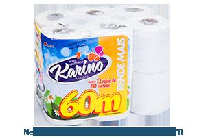 Karino Neutro | Folha Simples 12 rolos de 60m